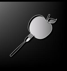 Vegetarian food sign gray 3d vector