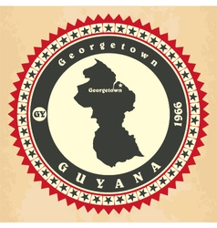 Vintage label-sticker cards of Guyana vector image vector image