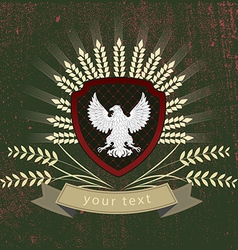 vintage logo of the eagle vector image vector image