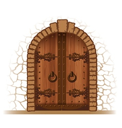 Wooden door vector image vector image
