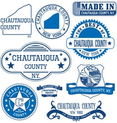 Chautauqua county New York vector image