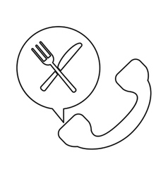 telephone food ordering delivery service outline vector image