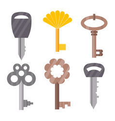 vintage or antique door key isolated access vector image