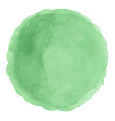 Delicate green watercolor painted stain vector