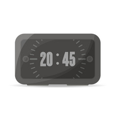 black digital alarm clock icon vector image