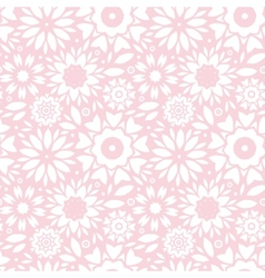 Light pink abstract flowers seamless pattern vector