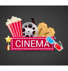Cinema icons concept vector
