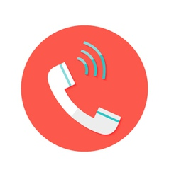 Headphone call circle flat icon vector