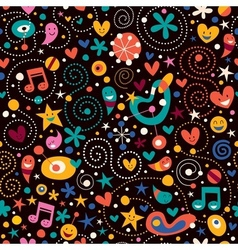 Fun cartoon pattern 13 vector