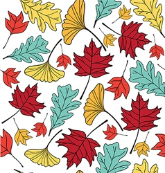 Autumn leaf pattern seamless vector
