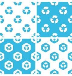 Recycling sign patterns set vector
