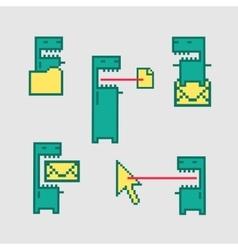 Character set of computer viruses vector