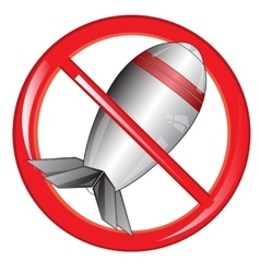 Sign of the prohibiting bomb vector