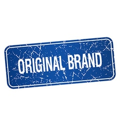 Original brand blue square grunge textured vector