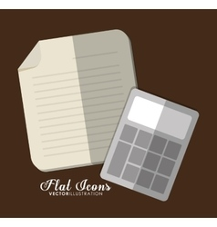 Document and calculator icon office instrument vector
