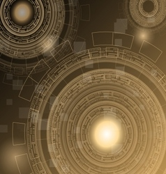 Abstract dark brown technology futuristic vector
