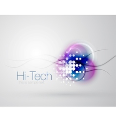 Abstract sparkling blurred shape background vector image