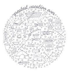 Adventure emblem vector image vector image