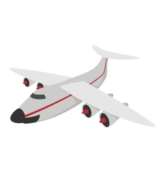 Airplane cartoon icon vector image vector image