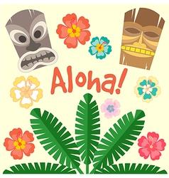 Aloha flower vector