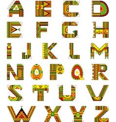 Alphabet Ethnic Ornamental vector image