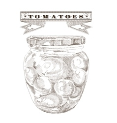 Bank of tomatoes vintage vector