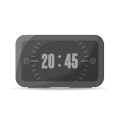 black digital alarm clock icon vector image
