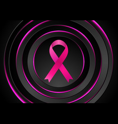 breast cancer awareness month black pink circles vector image
