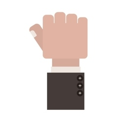 Clenched fist with finger thumb vector