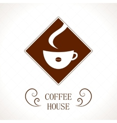 Coffee house coffee cup background vector image
