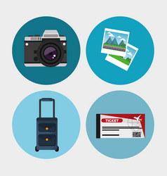 Collection travel equipment concept vector