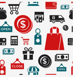 digital white red shopping sale vector image