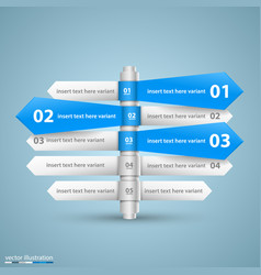 direction list of options info vector image vector image