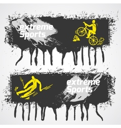 Extreme sports banner vector