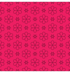 Flowers - seamless pattern vector