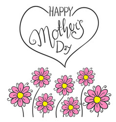 Happy mother day with flower vector