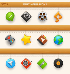 hung icons - set 3 vector image