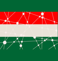 Hungary flag concept vector