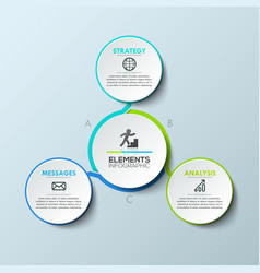 infographic design template circular diagram with vector image vector image