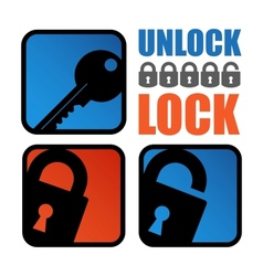 Lock-unlock icon vector image