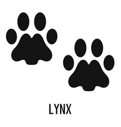 Lynx step icon simple style vector