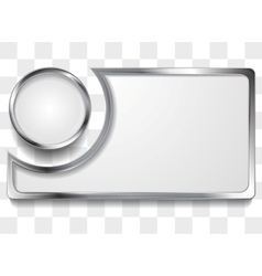 Metal silver frame background vector