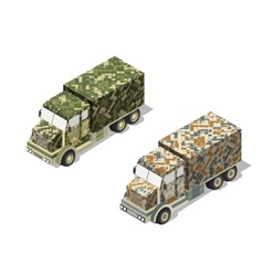Military truck army vector image