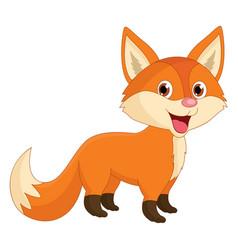 of cartoon fox vector image vector image