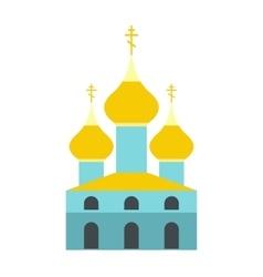 Russian orthodox church flat icon vector