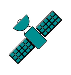 Satellite transmission telecommunication icon vector