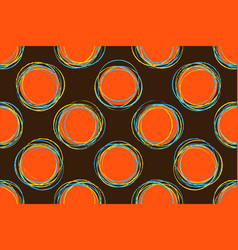 seamless pattern casual polka dot texture vector image vector image