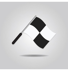 soccer waving referee flag icon vector image vector image