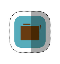 symbol yellow file icon vector image
