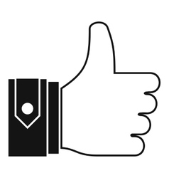 Thumbs up icon simple style vector